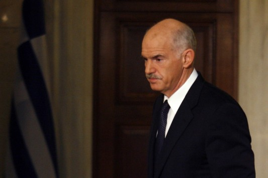Greece's Bailout PM Papandreou receives Distinguished Leader Award