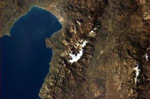 Kalamata seen from space