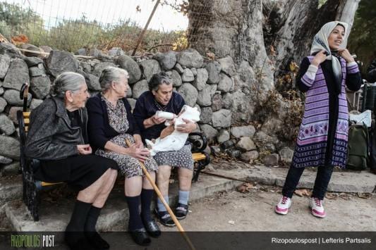 lesvos grannies refugees
