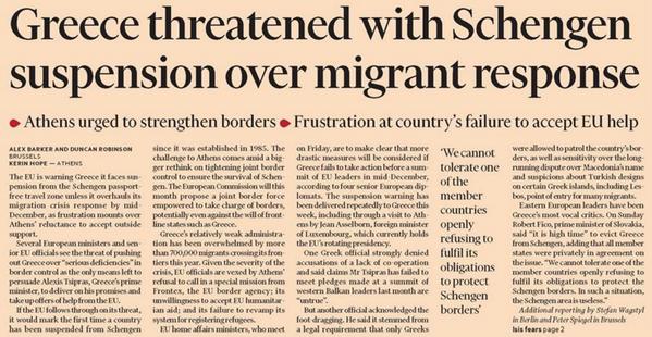 FT Greece Schengen
