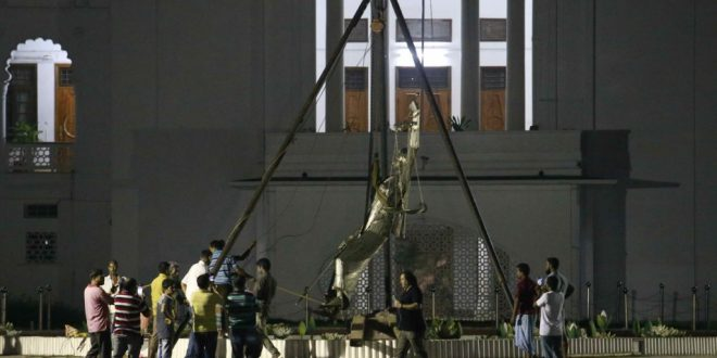 Greek goddess statue removed in Bangladesh after Islamist outcry
