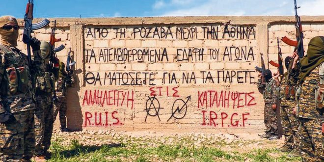 Greek anarchists fight next to Syrian Kurds against the ISIS in Rojava