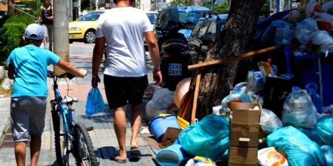 Tonnes of garbage pile up on Greek streets due to municipality workers strike