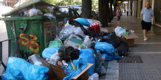 Greeks fed up with the mountains of stinking garbage threatening public health