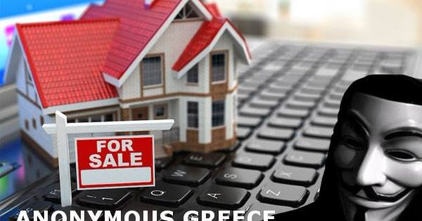 """Anonymous Greece"" hack Gov't website for electronic auctions"