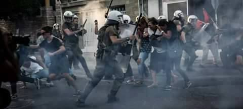 Clashes during commemoration march for rapper Pavlos Fyssas murdered by Golden Dawn member