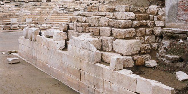 Tourist steals antiquity stone from the Ancient Theater of Larissa