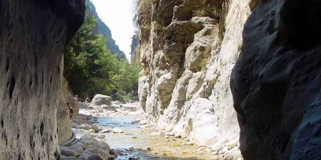 Samaria Gorge closed on Tue due to upcoming extreme weather
