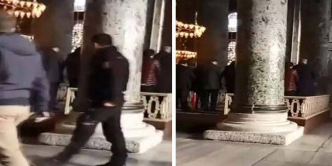 Turkish nationalists raid Hagia Sophia and pray to protest Jerusalem recognition (video)