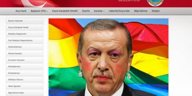 'Anonymous Greece' hack Erdogan's website, mocking the Turkish President