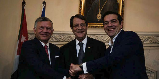 First trilateral meeting of leaders of Greece, Cyprus and Jordan