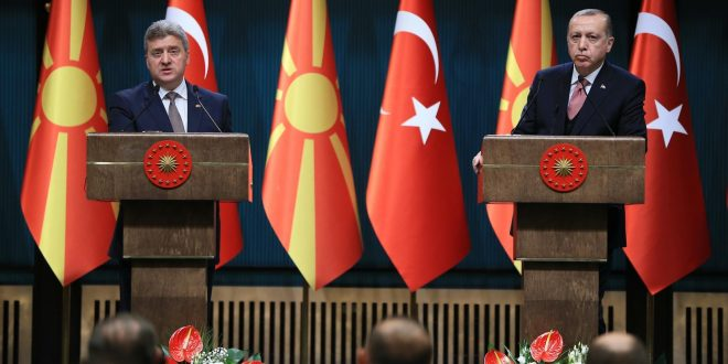 Erdogan fully supports FYROM in Macedonia name dispute with Greece