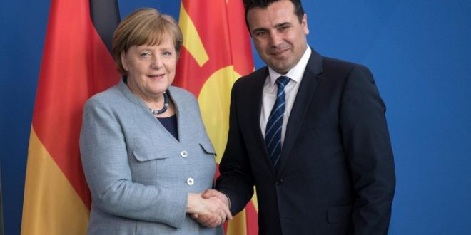 "Merkel welcomes FYROM's Zaev as ""Macedonian Prime Minister"""