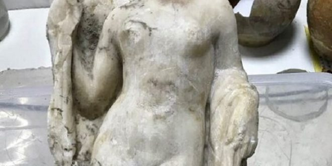 Venus statue discovered in Thessaloniki during metro construction works