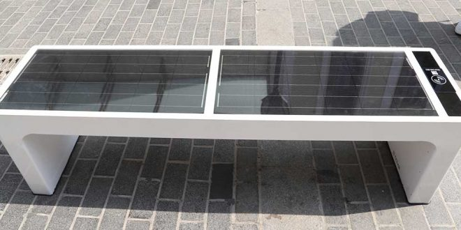 Smart Benches installed in two main squares of Heraklio, Crete
